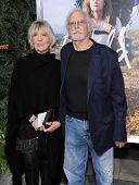 LOS ANGELES - NOV 19:  Bruce Dern & Andrea Beckett arrives to the