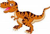 pic of tyrannosaurus  - illustration of Tyrannosaurus cartoon isolated on white - JPG