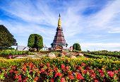 Landscape Of Pagoda In An Inthanon Mountain, Doi Inthanon Nation Park,thailand.