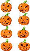 Set of Halloween pumpkin