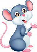 Happy mouse cartoon vector