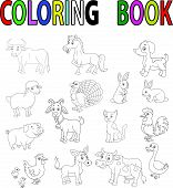 foto of sheep-dog  - illustration of Farm animal coloring book isolated on white vector - JPG