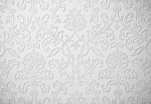 white baroque wedding pattern