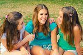 Teenage Girls Having Fun In The Par