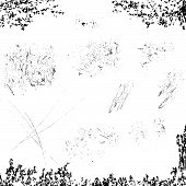 Grunge Scratches Elements In Eleven Groups