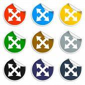 Set Of Blank Stickers. Arrows Symbol. Vector Illustration.