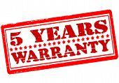 Five Years Warranty