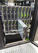 picture of chassis  - server chassis the platform virtualization in the data center server rack and failed blade server - JPG