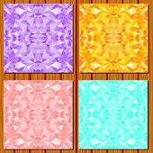 Set of diamond patterns.