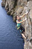 Female extreme climber