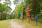 Hill Of Crosses In Grabarka Town