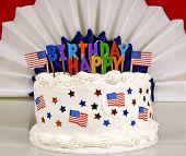 July 4th Birthday Cake