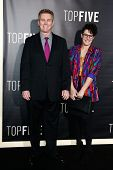 NEW YORK-DEC 3: Comedian Brian Regan (L) and wife Kathleen Regan attend the