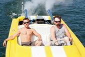 Men In A Speedboat