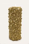 foto of adornment  - Gold candle for decoration and xmass adornment - JPG