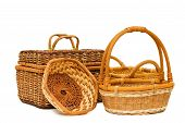 Wattled Basket Isolated On White Background