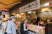TAIPEI, TAIWAN - November 16th : Store sell many kinds of traditional Chinese pastries near Longshan Temple, Taipei, Taiwan on November 16th, 2014.