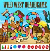 Illustration of a wild west boardgame