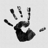 Handprint, vector, isolated. Raster version