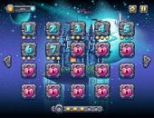 Illustration Fabulous Space With Cheerful Planets With The Example Screen Levels, The Game Interface