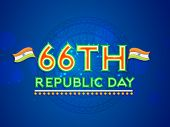 Poster or banner design with stylish text in tricolor and National Flags on Ashoka Wheels decorated blue background.
