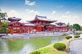 UJI, JAPAN-OCT 23,2014.Byodo-In in Uji, Kyoto on Oct 23, 2014,  Japan. Byodo-In Temple is a Buddhist temple located at the foot of the Ko'olau Mountains in Valley of the Temples Memorial Park.