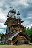 image of ascension  - Old wooden Ascension Church in the reserve Malye Korely - JPG