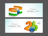 Website header or banner set for Indian Republic Day celebration.