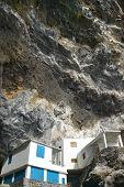 Houses In The Rock In Poris De La Candelaria. Spain