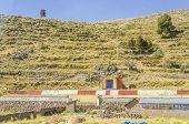 PUNO, PERU,  MAY 6, 2014: Small church on roadside of the road to Copacabana in Bolivia
