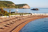 Beach Near Sveti Stefan, Montenegro