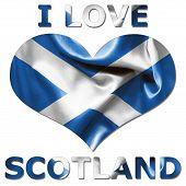 I Love Scotland Heart Flag