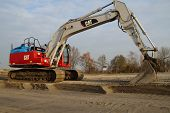 Excavator or earthmover - mechanical digger