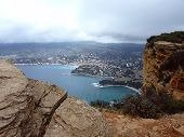 View Of Cassis Village From The Mountain, France