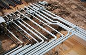steel pipes on a newly industrial enterprises