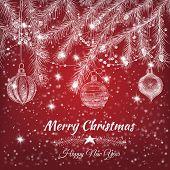 image of teardrop  - Christmas background - JPG
