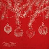 stock photo of teardrop  - Christmas background - JPG