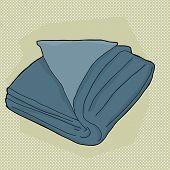 Blue Folded Towel