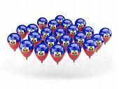 Balloons With Flag Of Haiti