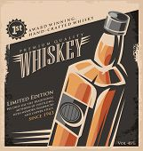 stock photo of whiskey  - Whiskey vintage poster design template - JPG