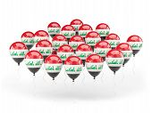 Balloons With Flag Of Iraq