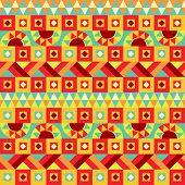 Festive Geometric Seamless Pattern