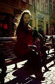 Pretty Girl On Lviv Street