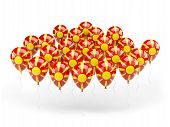 Balloons With Flag Of Macedonia