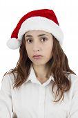 Upset Christmas Business Woman