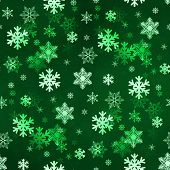 Dark Green Snowflakes
