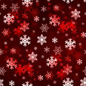 Dark Red Snowflakes