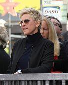 LOS ANGELES - DEC 4:  Ellen DeGeneres at the Pharrell Williams Hollywood Walk of Fame Star Ceremony at the W Hotel Hollywood on December 4, 2014 in Los Angeles, CA