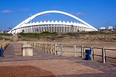 Moses Mabhida Stadium As Seen From Pier On Durban Beach
