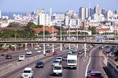 Western Freeway Leading Into Durban City Centre At Tollgate Bridge